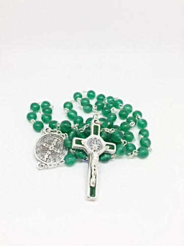 Green Agate Standard Rosary